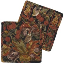 April Cornell Pot Holders - Set of 2 in Forest Black - Closeouts