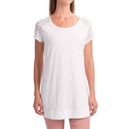 Apropos Avery Tunic Shirt - Short Sleeve (For Women) in White - Closeouts