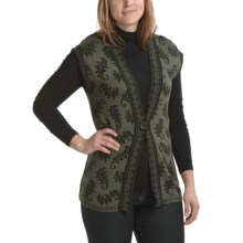 Apropos Baroque Jacquard Vest (For Women) in Artichoke - Closeouts
