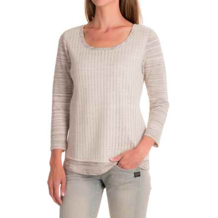 Apropos Cache Overlay Shirt - Scoop Neck, Long Sleeve (For Women) in Gray - Closeouts