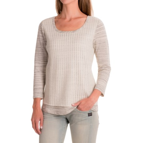 Apropos Cache Overlay Shirt - Scoop Neck, Long Sleeve (For Women)