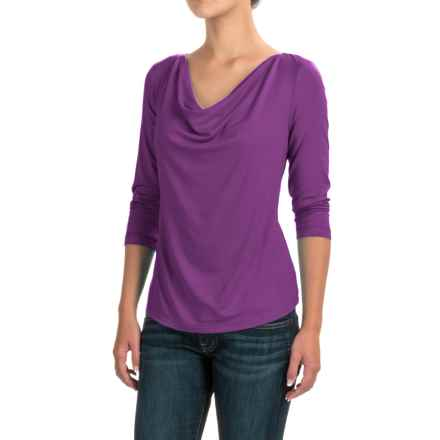 Apropos Camille Shirt - Modal, 3/4 Sleeve (For Women) in Orchid - Closeouts
