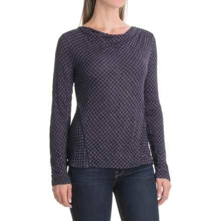 Apropos Checks & Balances Mingle Shirt - Long Sleeve (For Women) in Amethyst Check - Closeouts