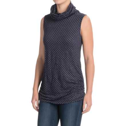Apropos Checks & Balances Vare Essential Turtleneck Tank Top (For Women) in Amethyst Check - Closeouts