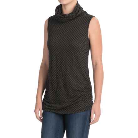 Apropos Checks & Balances Vare Essential Turtleneck Tank Top (For Women) in Java Check - Closeouts