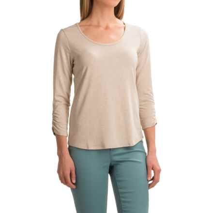 Apropos Chloe Shirt - Rayon, Long Sleeve (For Women) in Oatmeal - Closeouts