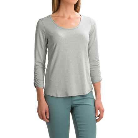 Apropos Chloe Shirt - Rayon, Long Sleeve (For Women) in Silver - Closeouts