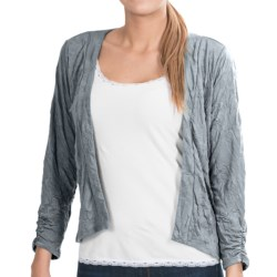 Apropos Crush On You Zia Crop Cardigan Sweater (For Women) in Silver