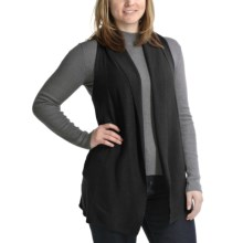 Apropos Drapey Cotton Blend Vest (For Women) in Black - Closeouts