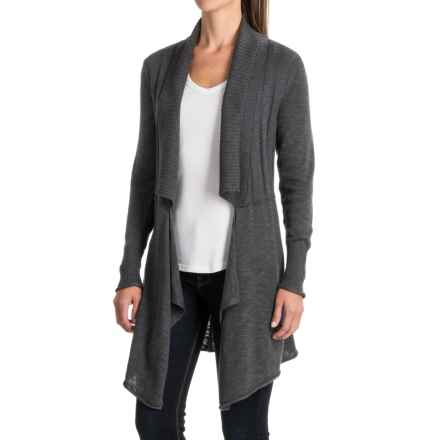 Apropos Equinox Delancey Topper Cardigan Sweater (For Women) in Charcoal - Closeouts