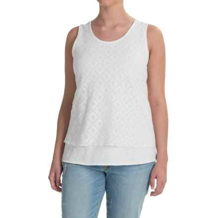 Apropos Fleurs de Lace Tank Top (For Women) in White - Closeouts