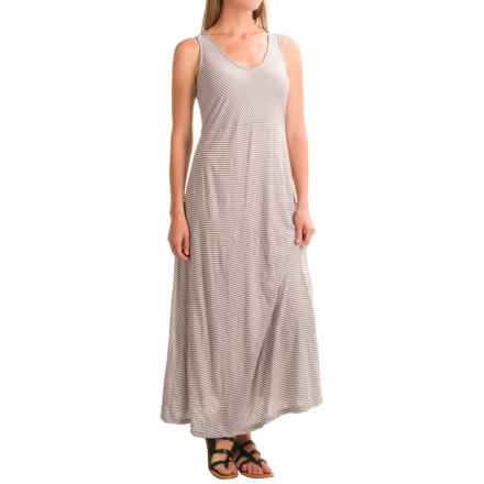 Apropos Having a Crush Maxi Dress - Sleeveless (For Women) in Taupe Stripe - Closeouts