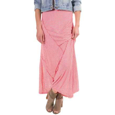 Apropos Having a Crush Seamingly Maxi Skirt (For Women) in Watermelon Stripe - Closeouts