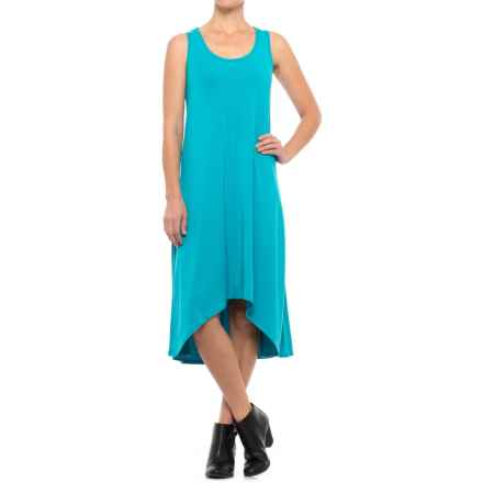 Apropos High-Low Hem Modal Knit Dress - Sleeveless (For Women) in Turquoise - Closeouts