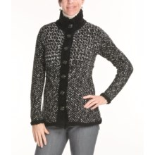 Apropos Hudson Tweed Sweater (For Women) in Black - Closeouts