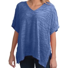 Apropos Intermezzo Poncho - V-Neck, Elbow Sleeve (For Women) in Bluestone - Closeouts