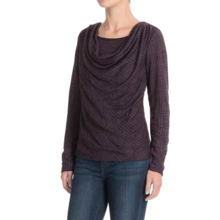 Apropos Major Crush Riva Shirt - Long Sleeve (For Women) in Mulberry Houndstooth - Closeouts