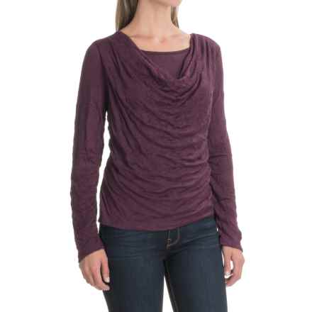 Apropos Major Crush Riva Shirt - Long Sleeve (For Women) in Mulberry - Closeouts