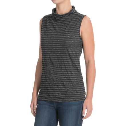 Apropos Major Crush Tank Top (For Women) in Black Stripe - Closeouts