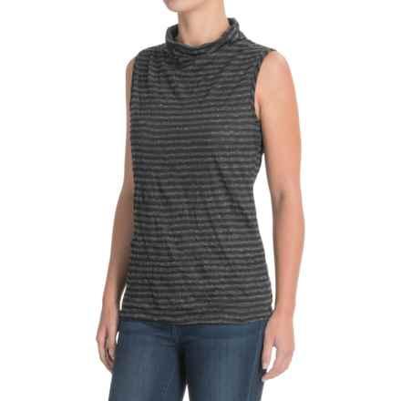 Apropos Major Crush Tank Top (For Women) in Black Stripe - Closeouts