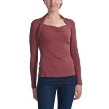 Apropos Mandy Stretch Jersey Shirt - Long Sleeve (For Women) in Spice - Closeouts