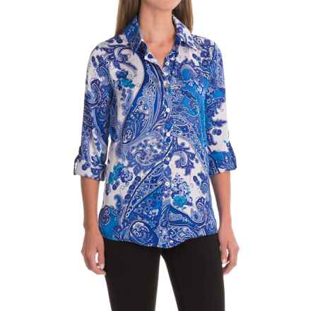Apropos Meridien Tunic Shirt - Long Sleeve (For Women) in Paisley - Closeouts