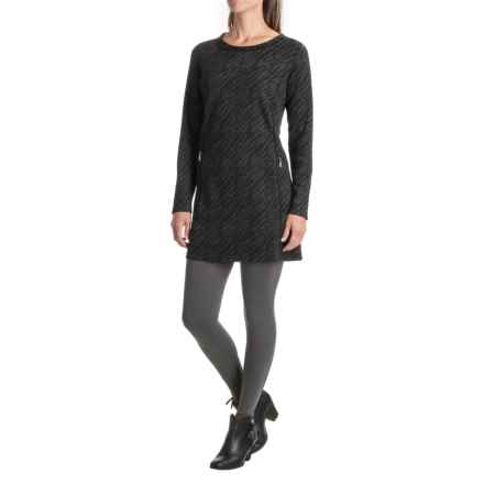 Apropos Mezzanine Carmen Tunic Dress - Long Sleeve (For Women) in Charcoal Zebra - Closeouts