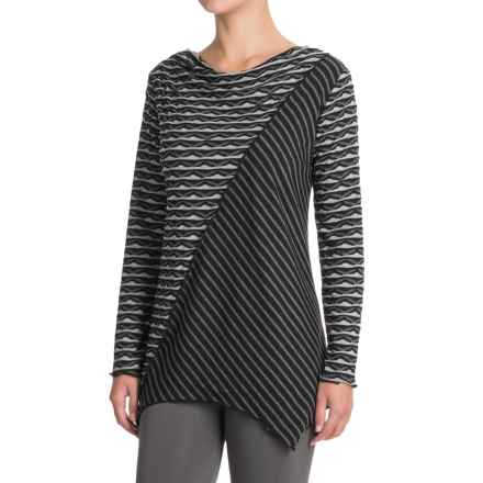 Apropos Mixology Zuzu Tunic Shirt - Long Sleeve (For Women) in Geo/Stripe - Closeouts
