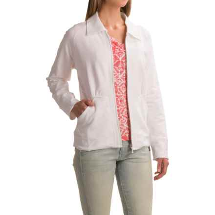 Apropos Noma French Terry Daybreaker Jacket (For Women) in White - Closeouts