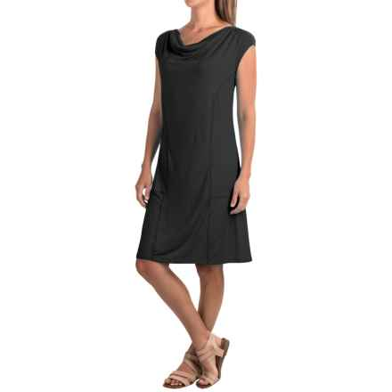 Apropos Orient Express Weekend Dress - Modal, Short Sleeve (For Women) in Black - Closeouts