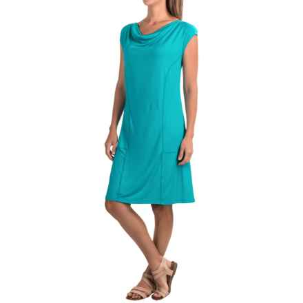 Apropos Orient Express Weekend Dress - Modal, Short Sleeve (For Women) in Turquoise - Closeouts