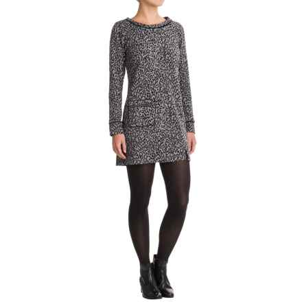 Apropos Pandora Feline Tunic Dress - Long Sleeve (For Women) in Charcoal - Closeouts