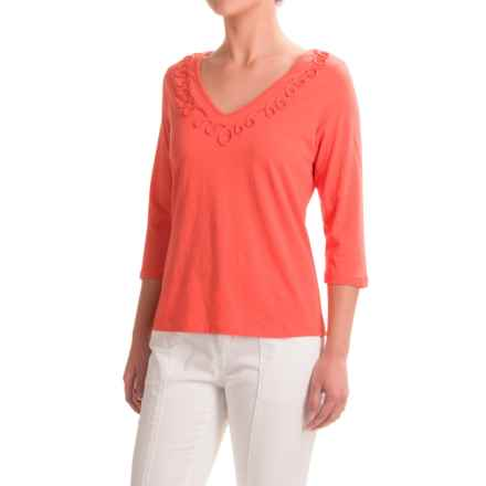 Apropos Portofino Helena Shirt - Elbow Sleeve (For Women) in Coral - Closeouts