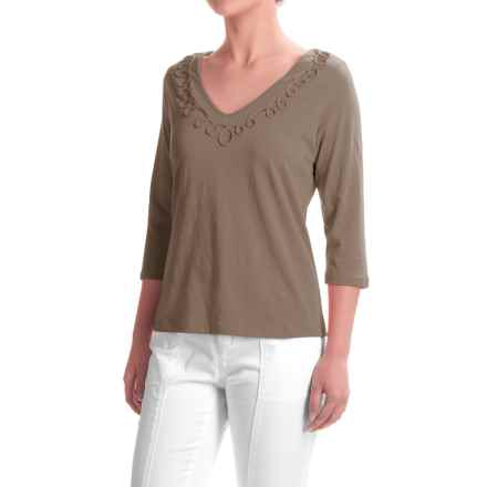 Apropos Portofino Helena Shirt - Elbow Sleeve (For Women) in Latte - Closeouts
