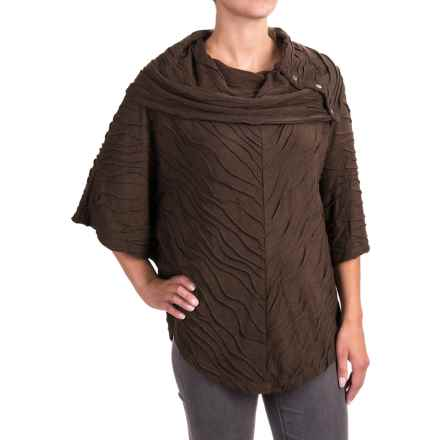 Apropos Postcards Sloan Poncho - Short Sleeve (For Women) in Clove - Closeouts