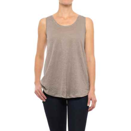 Apropos Promenade Linen Tank Top (For Women) in Taupe - Closeouts