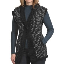 Apropos Putney Tweed Vest (For Women) in Black - Closeouts