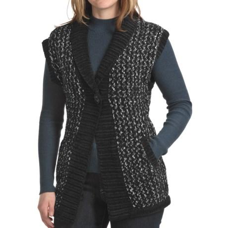 Apropos Putney Tweed Vest (For Women) in Black