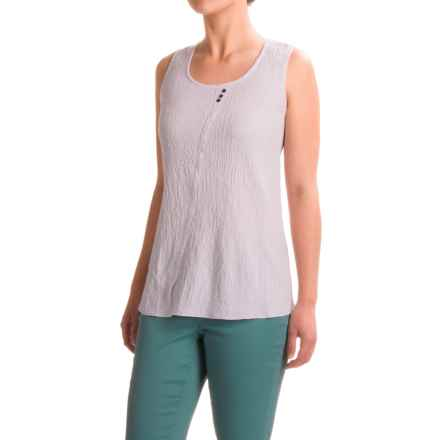 Apropos Roman Holiday Ripple Effect Ella Tank Top (For Women) in White - Closeouts