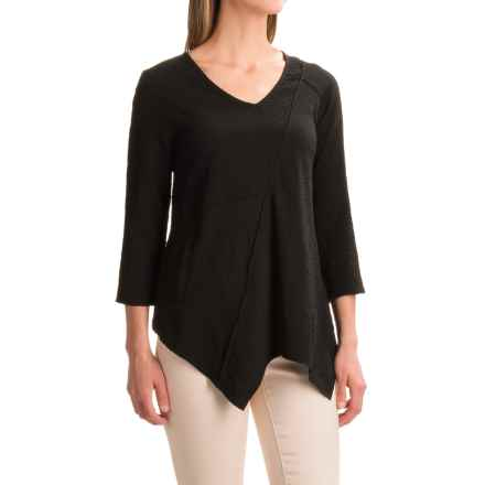 Apropos Roman Holiday Ripple Effect Milano Shirt - Long Sleeve (For Women) in Black - Closeouts