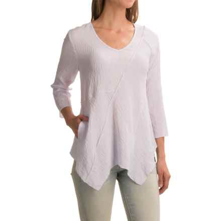 Apropos Roman Holiday Ripple Effect Milano Shirt - Long Sleeve (For Women) in White - Closeouts