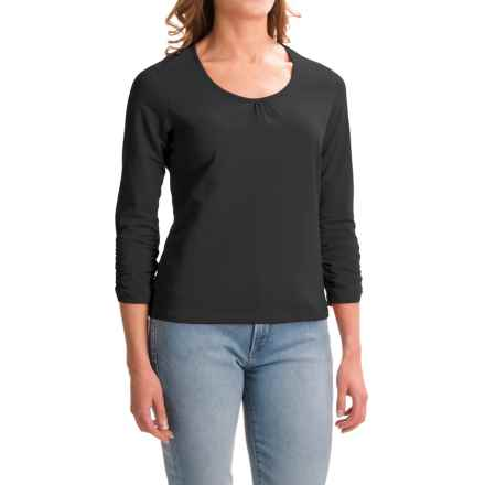 Apropos Roman Holiday Shirt - Pima Cotton, Long Sleeve (For Women) in Black - Closeouts