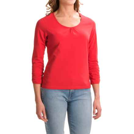 Apropos Roman Holiday Shirt - Pima Cotton, Long Sleeve (For Women) in Tomato - Closeouts