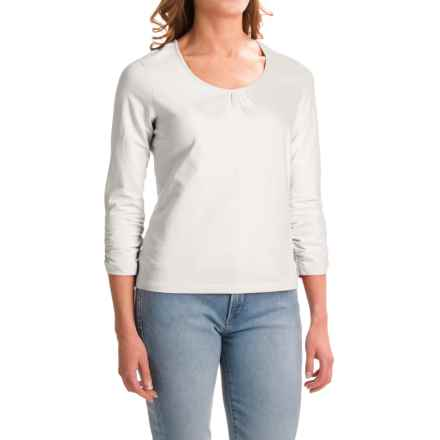 Apropos Roman Holiday Shirt - Pima Cotton, Long Sleeve (For Women) in White - Closeouts