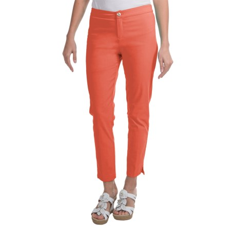 Apropos Savvy Ankle Pants - Twill (For Women) in Washed Coral