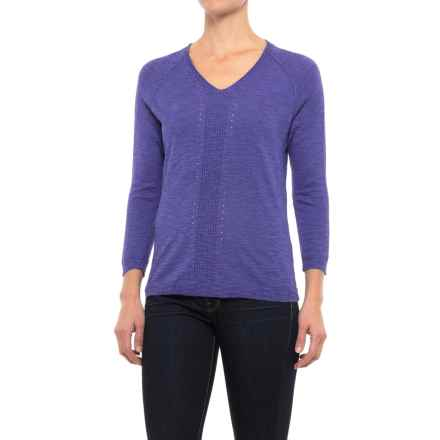 Apropos Simone Shirt - 3/4 Sleeve (For Women) in Pacifica - Closeouts
