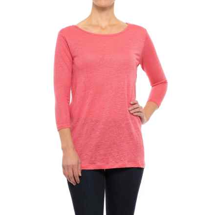 Apropos Waterfront Tunic Shirt - 3/4 Sleeve (For Women) in Guava - Closeouts