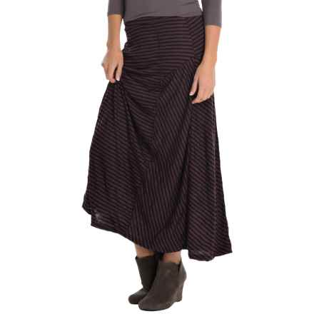 Apropos Zoe Major Crush Crinkled Skirt (For Women) in Mulberry Stripe - Closeouts