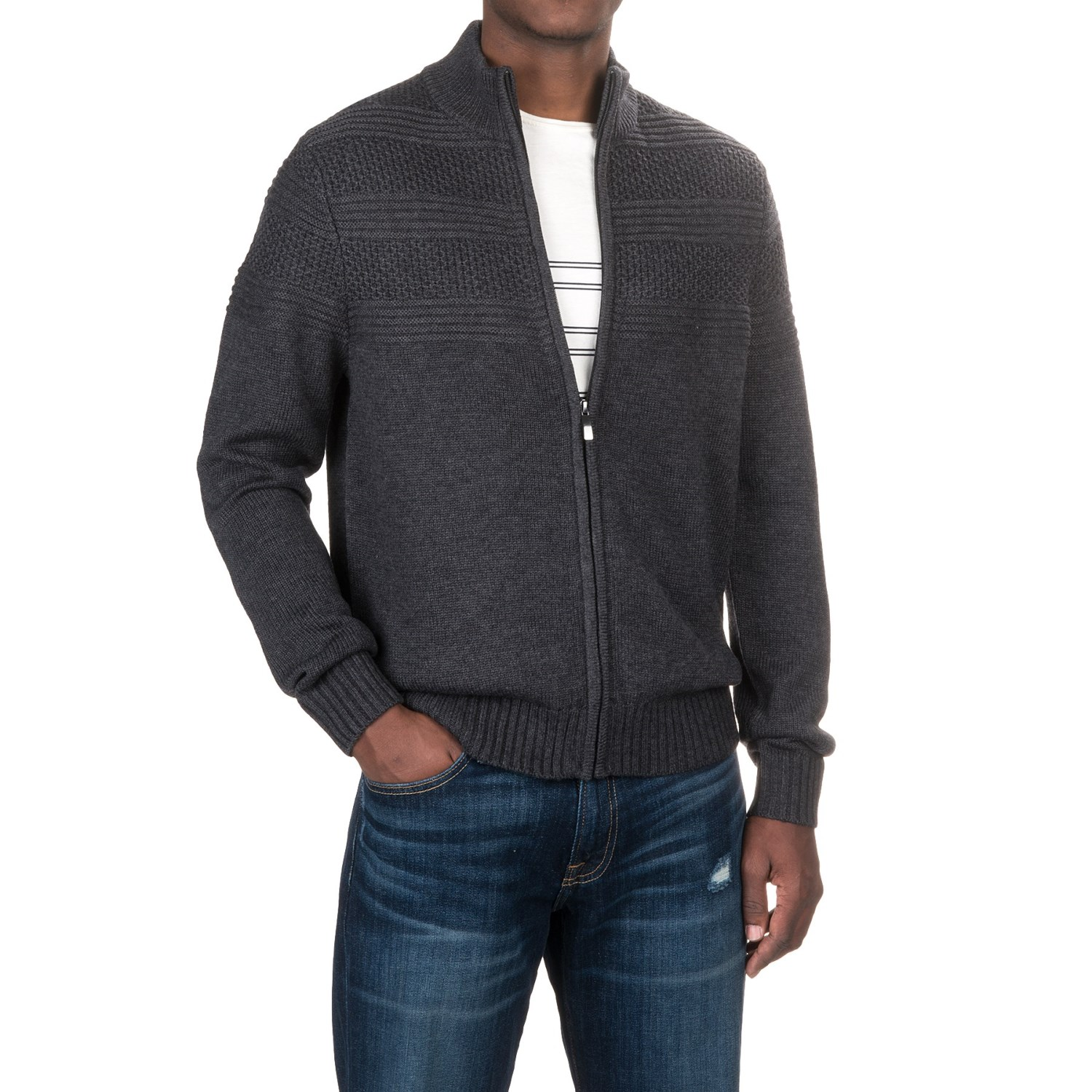 Aqua by Toscano Mock Neck Sweater (For Men) - Save 42%