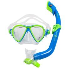 Aqua Lung Tango Jr./Piper Mask/Snorkel Set (For Youth) in Fun Blue - Closeouts
